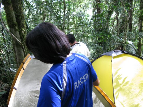 Room for tents only for the Women